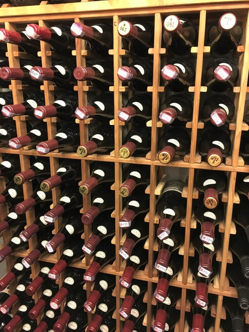 standard wooden wine rack