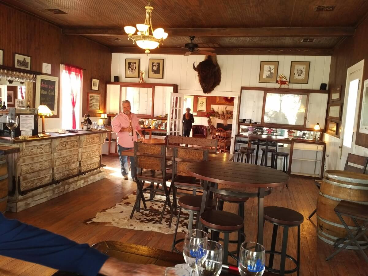 Blue Duck Winery tasting room with Adrian Allen