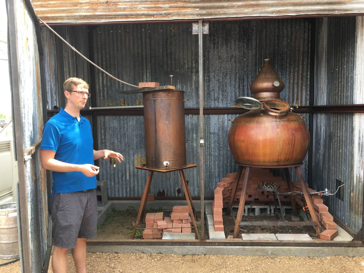 James Davidson and his still