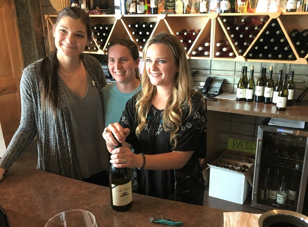 Kendall, Abby and Haley conducted our wine club tasting at McPherson Cellars