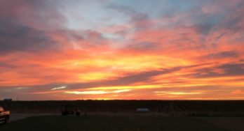A beautiful Texas High Plains Sunset at Buena Suerte Vineyards
