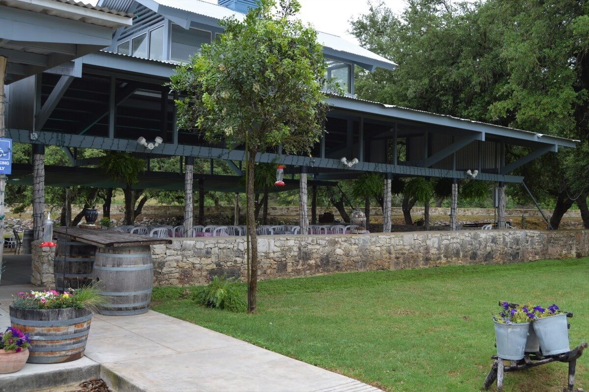Dry Comal Creek Patio