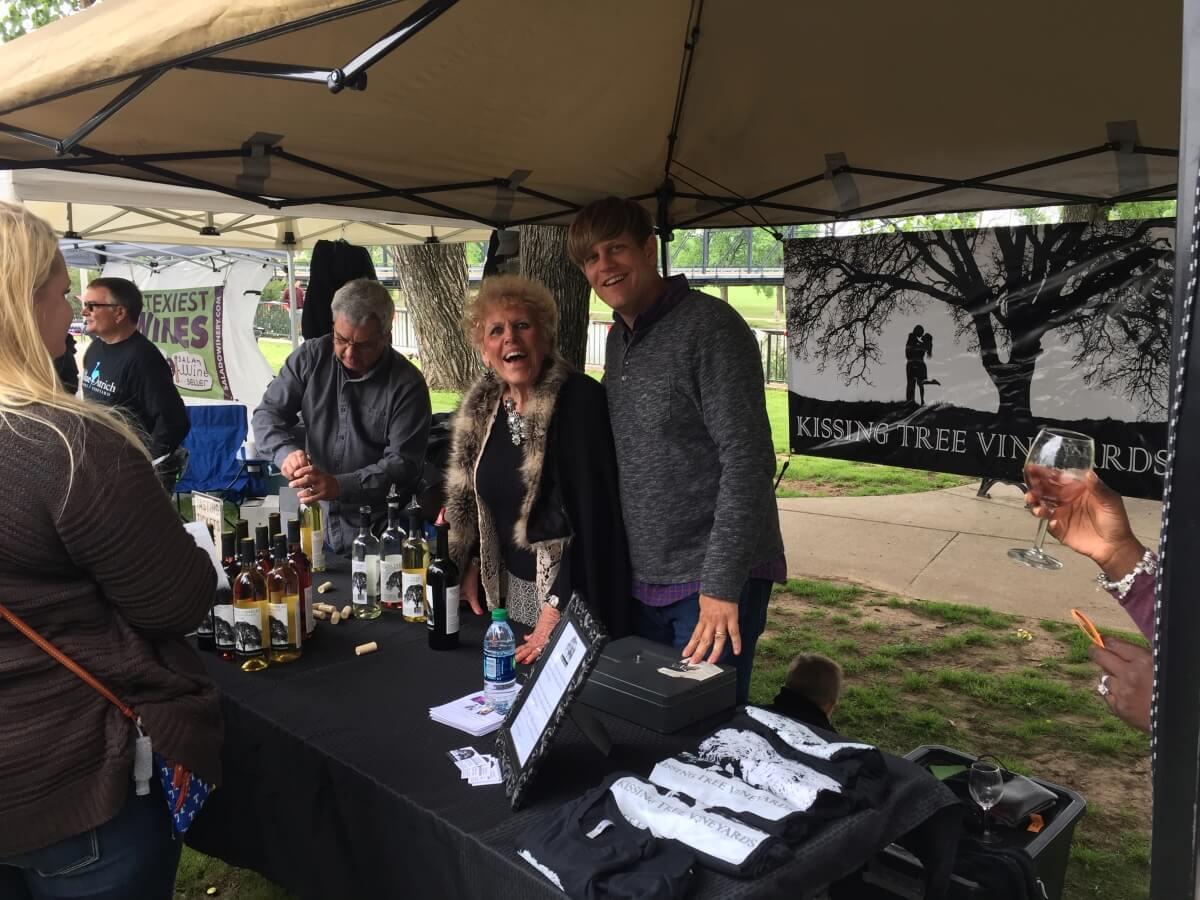 Kissing Tree Vineyards, Bruce-Eddy: Dorothy Johnson and Chris Grider