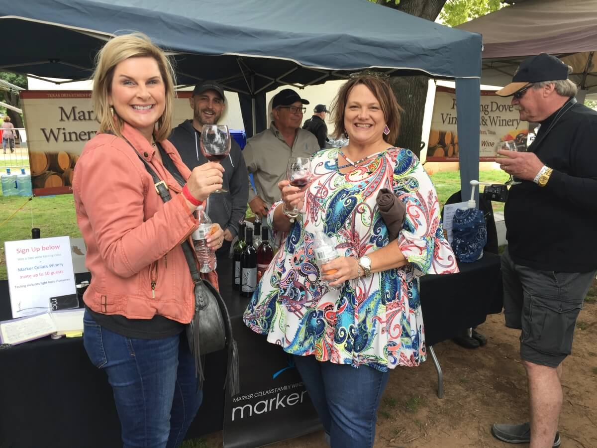 Marker Cellars, Alvord: Mark Rogers with Texas Wine Lovers Melanie Crain and Debbie Rogers