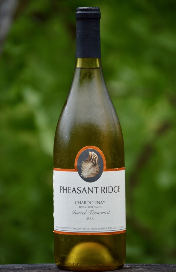 Pheasant Ridge Winery Chardonnay full bottle