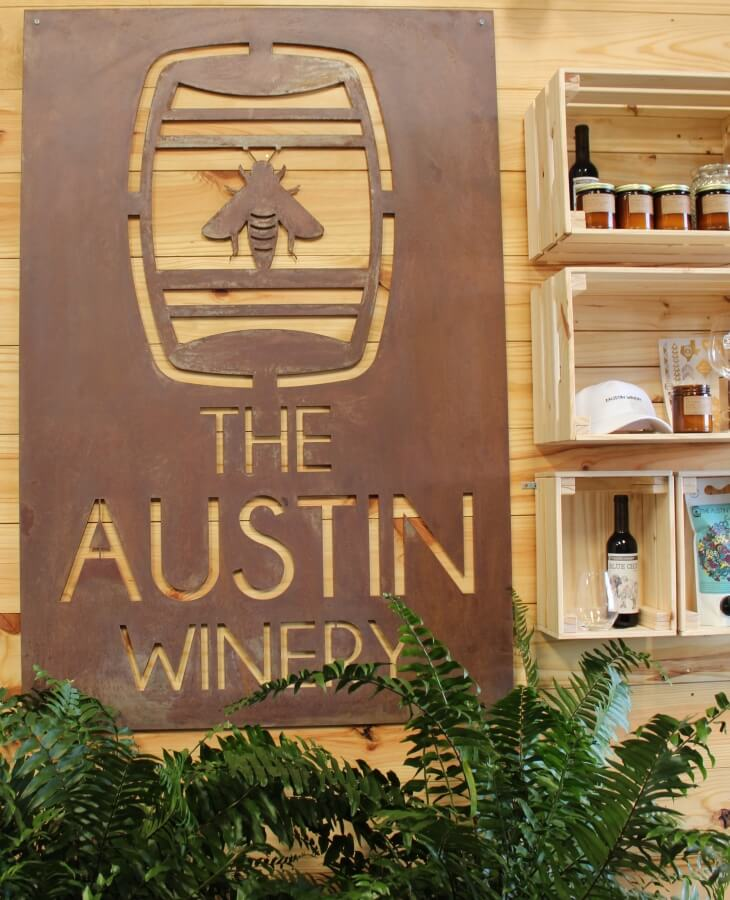 The Austin Winery sign