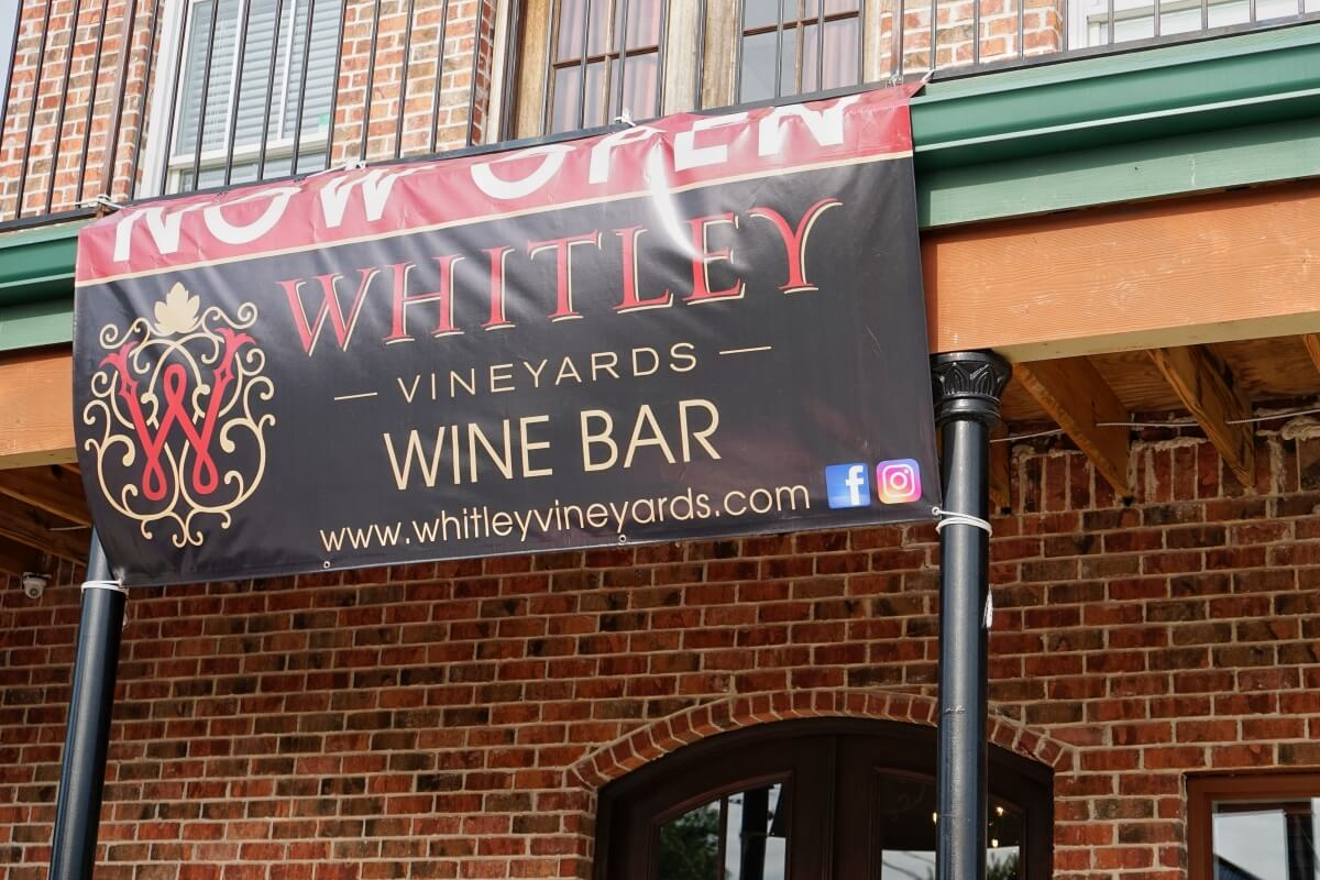Whitley Vineyards outside