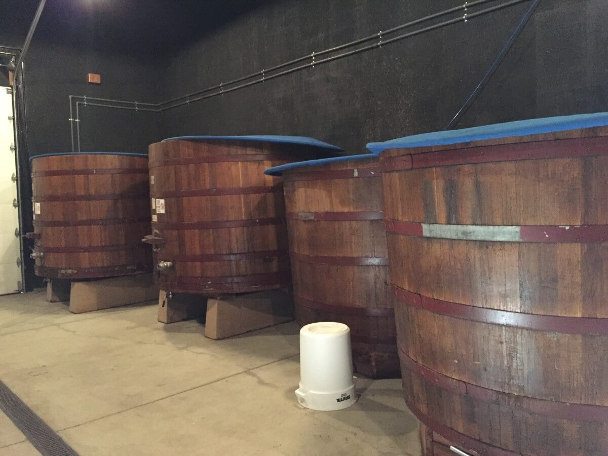 Barrel tanks - Hope Family Wines