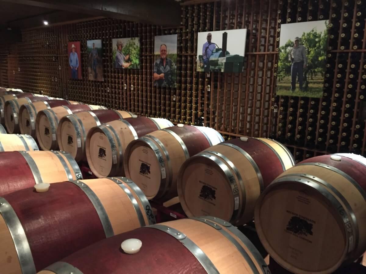 Becker Vineyards Library Cellar