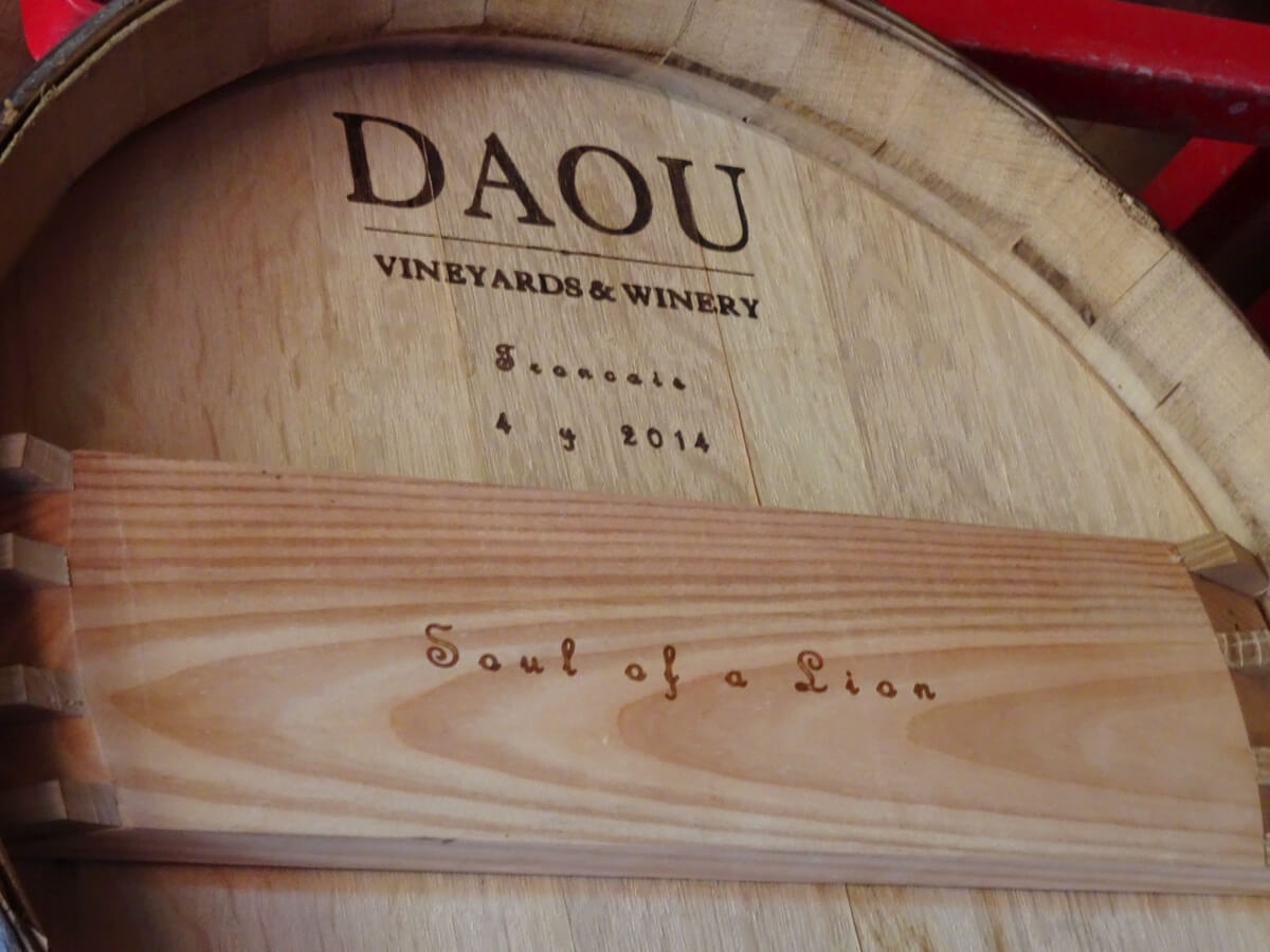 DAOU Soul of a Lion barrel