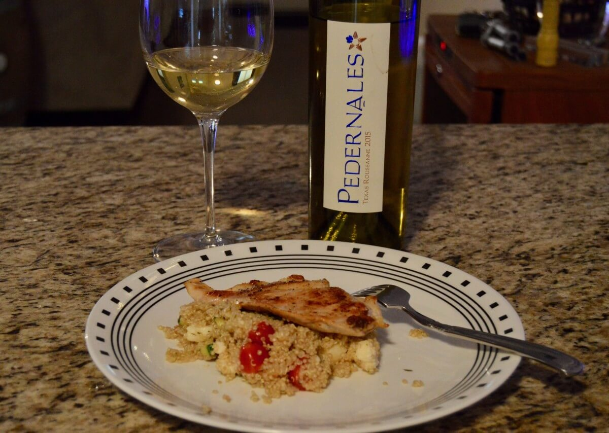 Pedernales Cellars Texas Roussanne food pairing