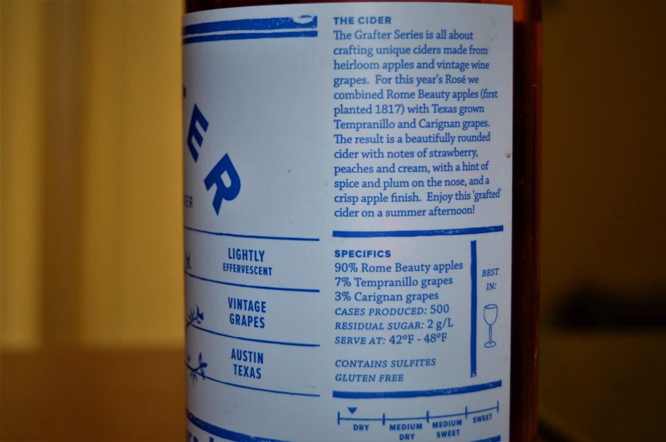 Texas Keeper Cider rose label