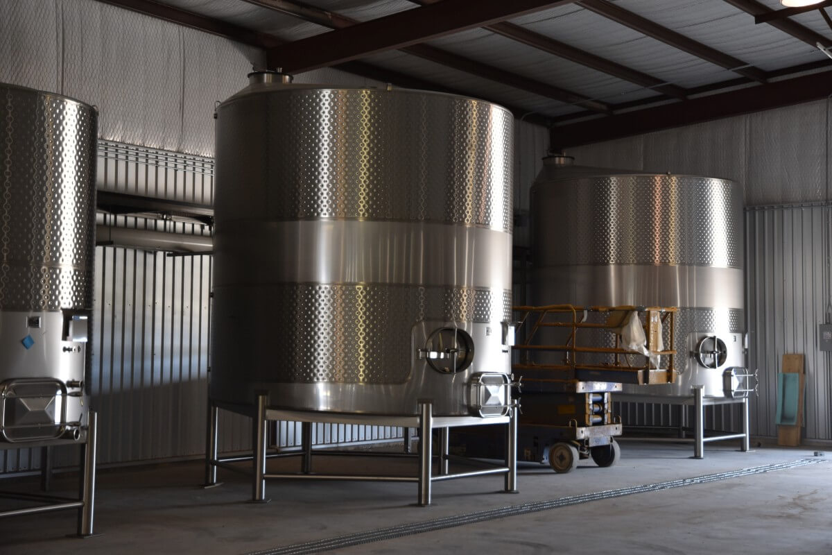 Texas Wine Company stainless tanks
