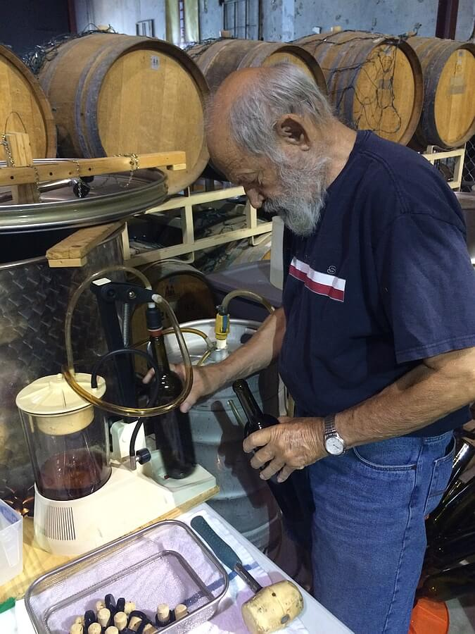 Dr Roy Mitchell bottling