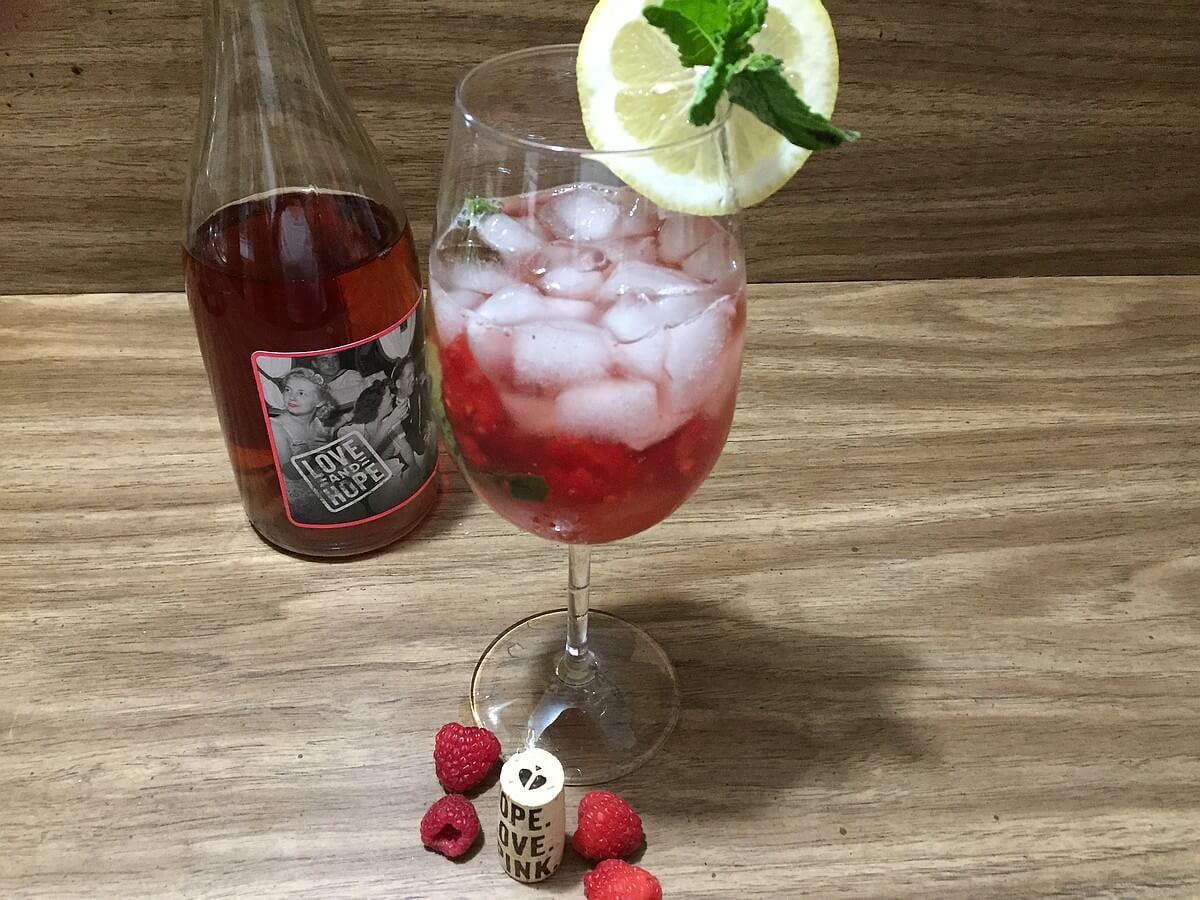 Love and Hope Lemonade cocktail