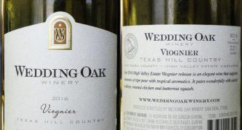 Wedding Oak Winery Viognier labels
