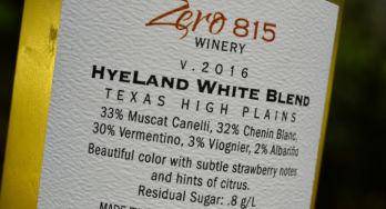 Zero 815 HyeLand white blend 2016