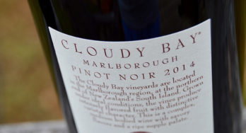 Cloud Bay Pinot Noir bottle label