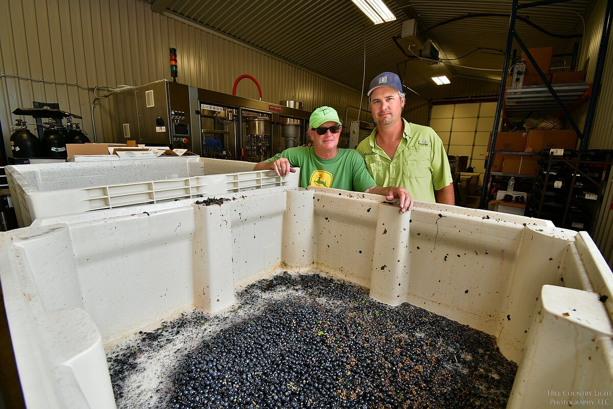 Bill Blackmon and Chris Brundrett, owners of William Chris Vineyards