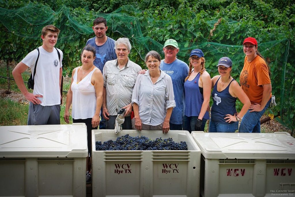Part of the 2017 harvest crew at William Chris Vineyards