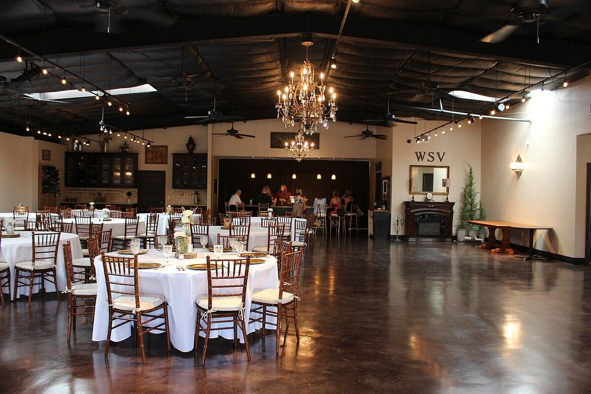 Wild Stallion Vineyards event center inside