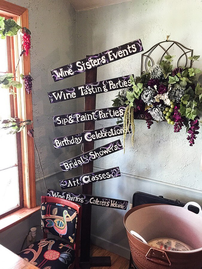 Old Town Spring Tasting Room wine sign