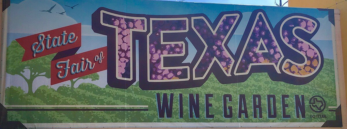 State Fair of Texas wine garden sign