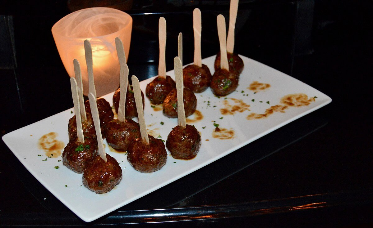 lamb meatball appetizer