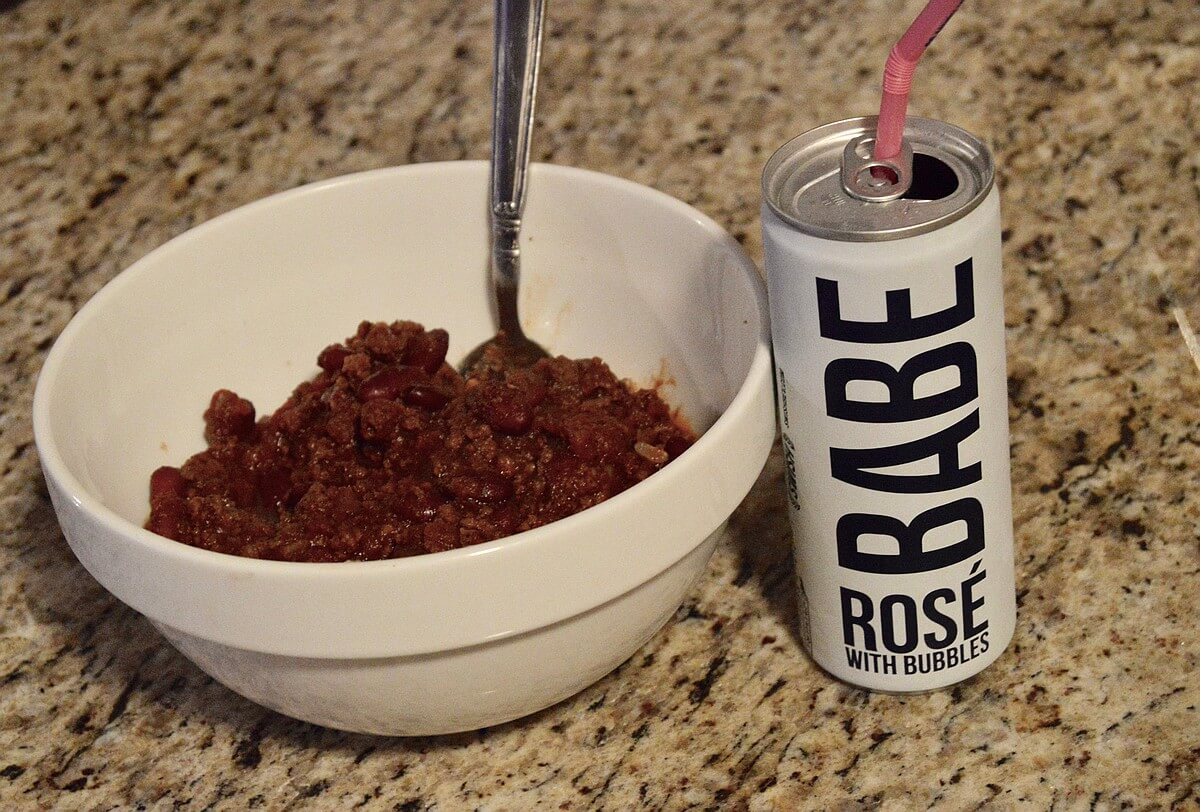 BABE rosé and chili