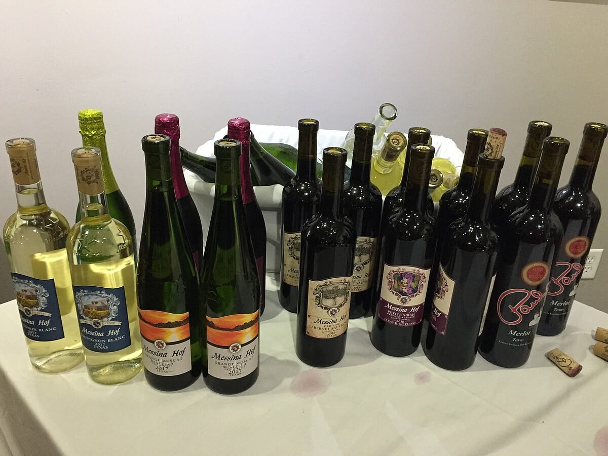Messina Hof wines at VIP Reception
