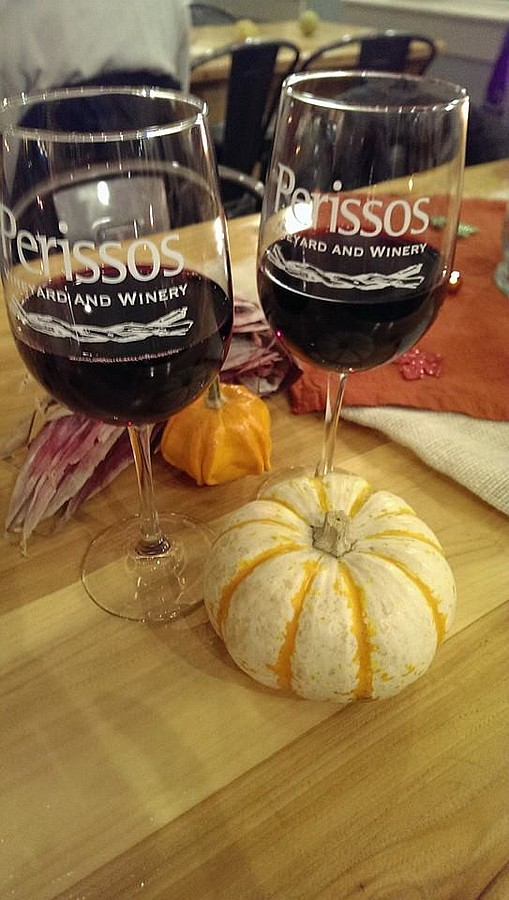 Perissos Wine Glasses at pick up party