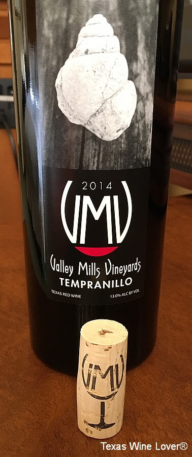 Valley Mills Tempranillo cork