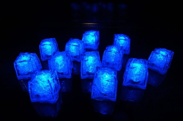 12 Blue Light Up Ice Cubes