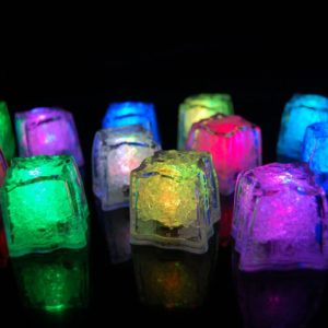 12 Rainbow Light Up Ice Cubes