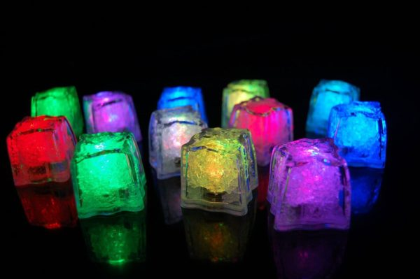 12 Rainbow Light Up Ice Cubes