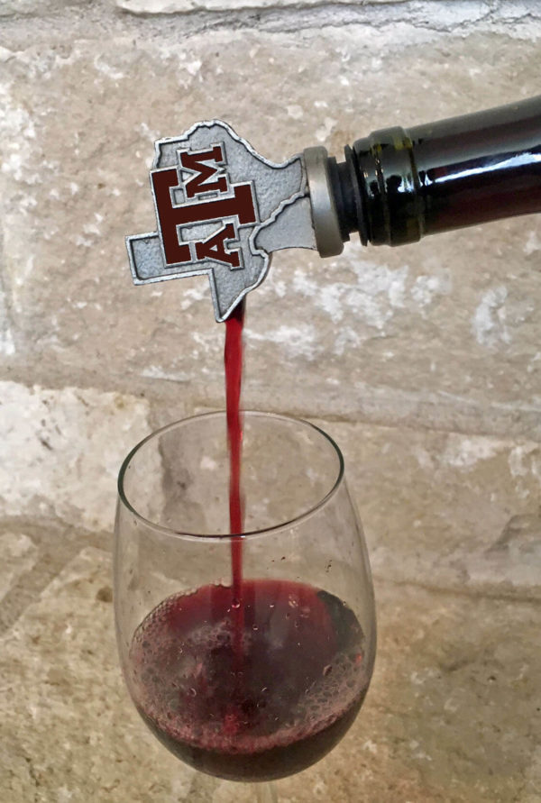 A&M pouring maroon