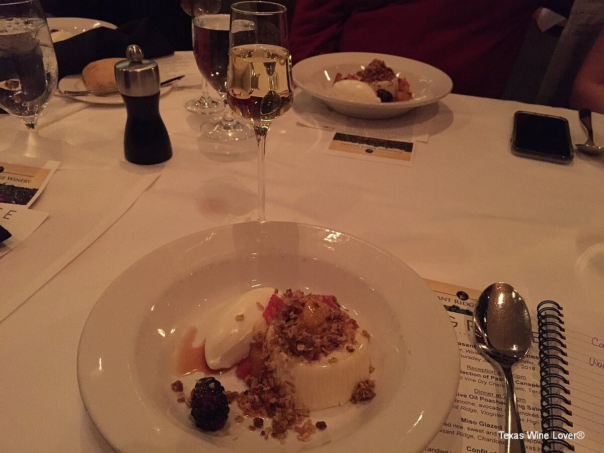Pheasant Ridge wine dinner dessert