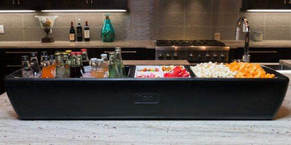 REVO Black cooler with snacks