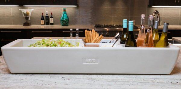 REVO White cooler with wine