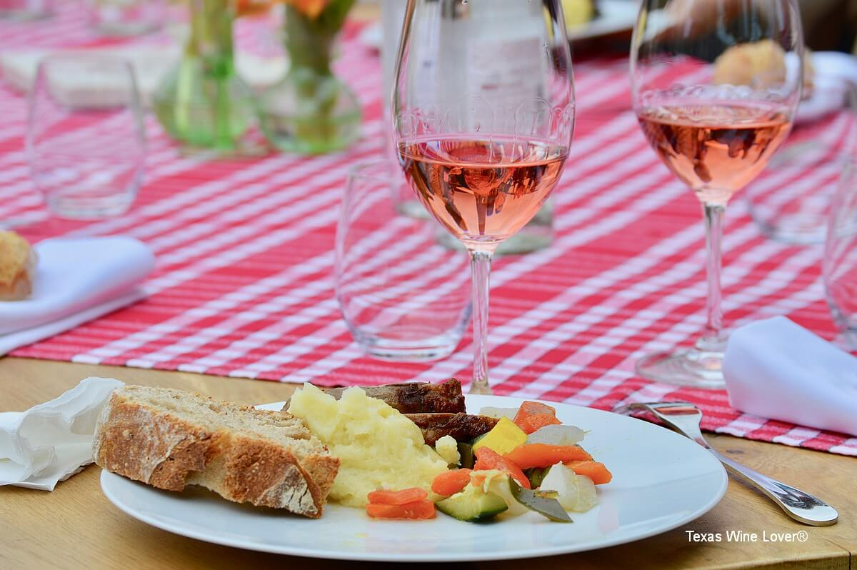 Rosé dinner