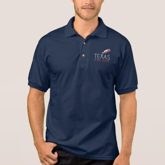 Texas Wine Lover Polo Shirt blue