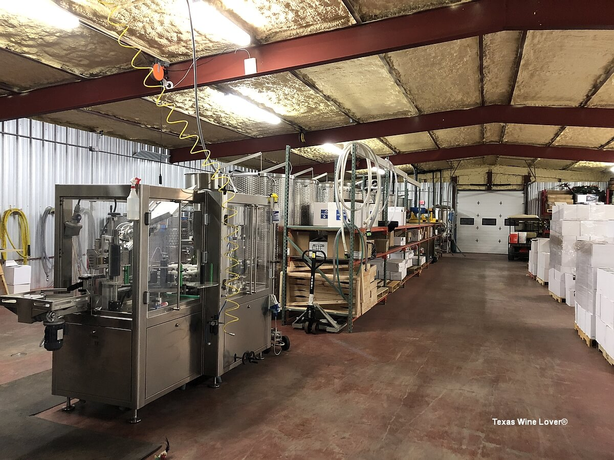 Thirsty Mule Winery bottling and cases