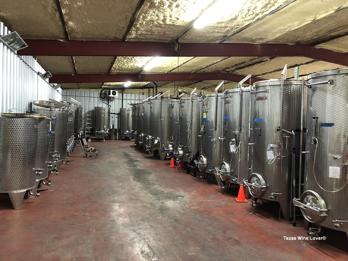 Thirsty Mule Winery tanks