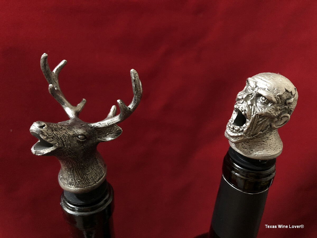 Buck and Zombie wine pourers