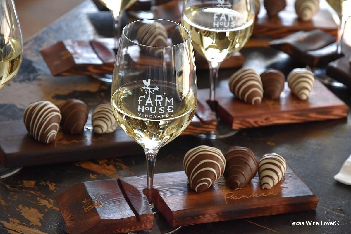 Farmhouse wine and chocolate