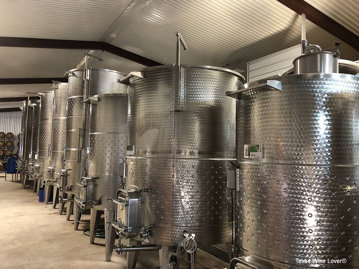Horn Winery production tanks