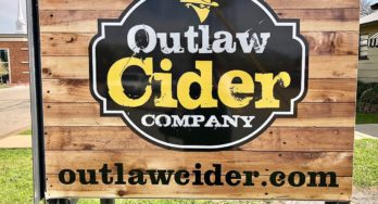 Outlaw Cider Company sign