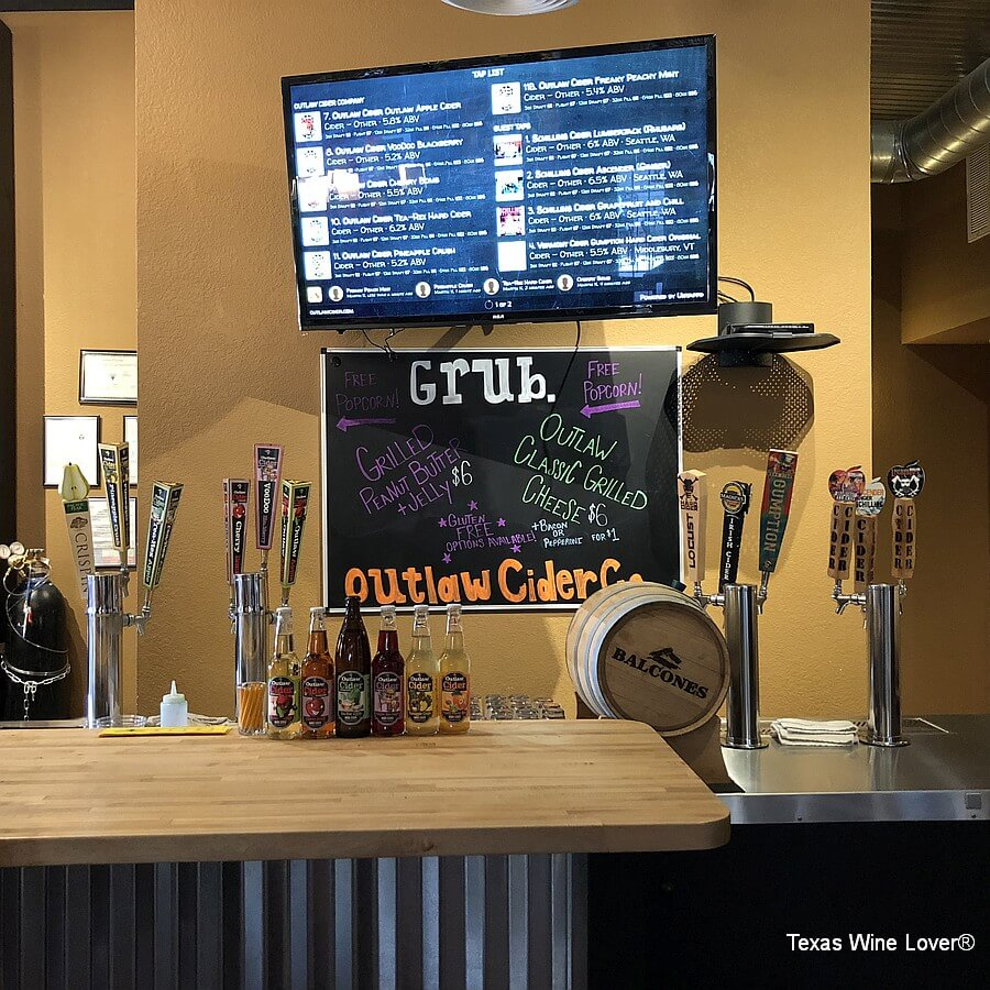 Outlaw Cider Company taps
