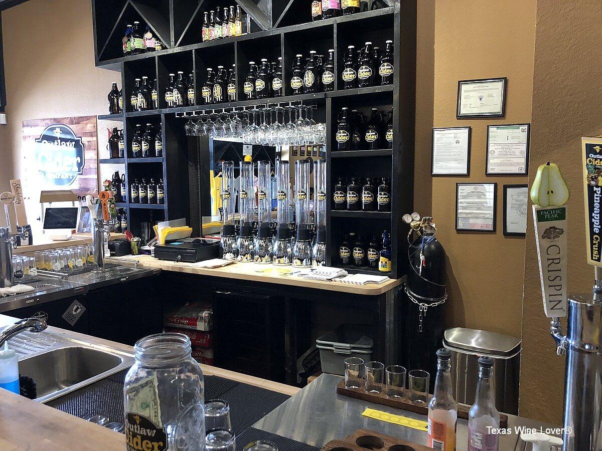 Outlaw Cider Company tasting bar