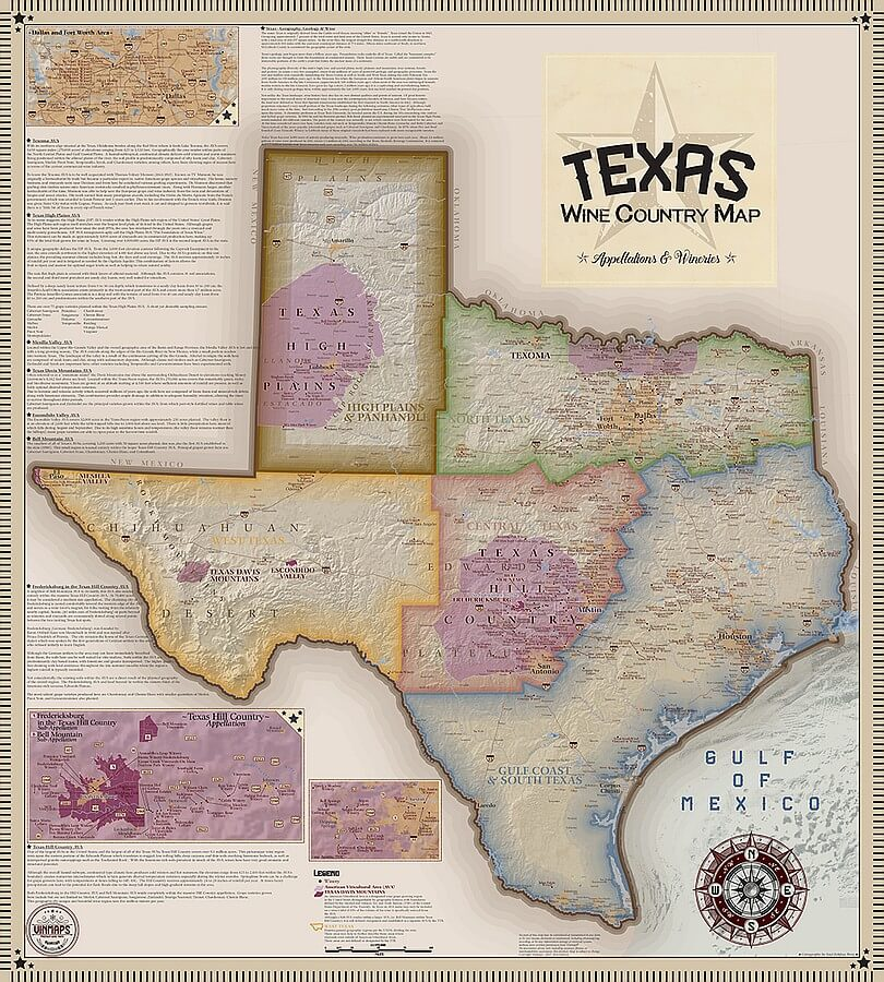 Vinmaps Texas Wine Country map
